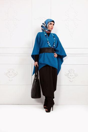 موضة ملابس المحجبات فى الشتاء القادم 2014 تصميم جيلان عاطف